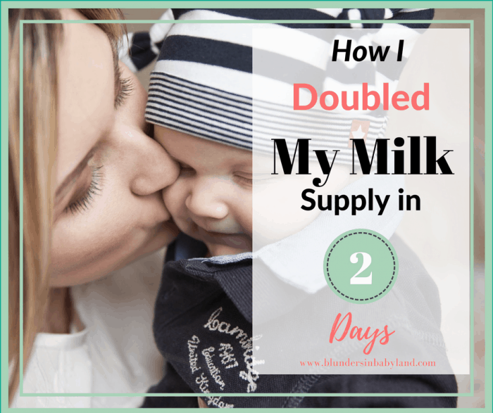 How I doubled my milk supply in 2 days