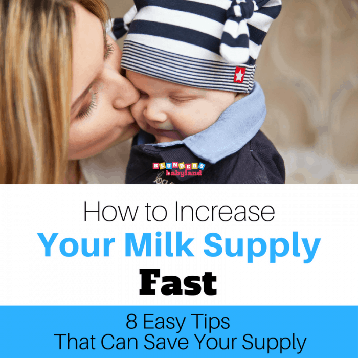 How to Increase Your Milk Supply Fast