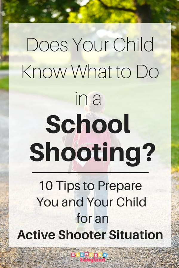 Prepare Your Child for an Active Shooter Situation
