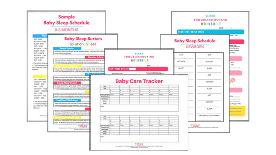 Baby Sleep Schedule Printables