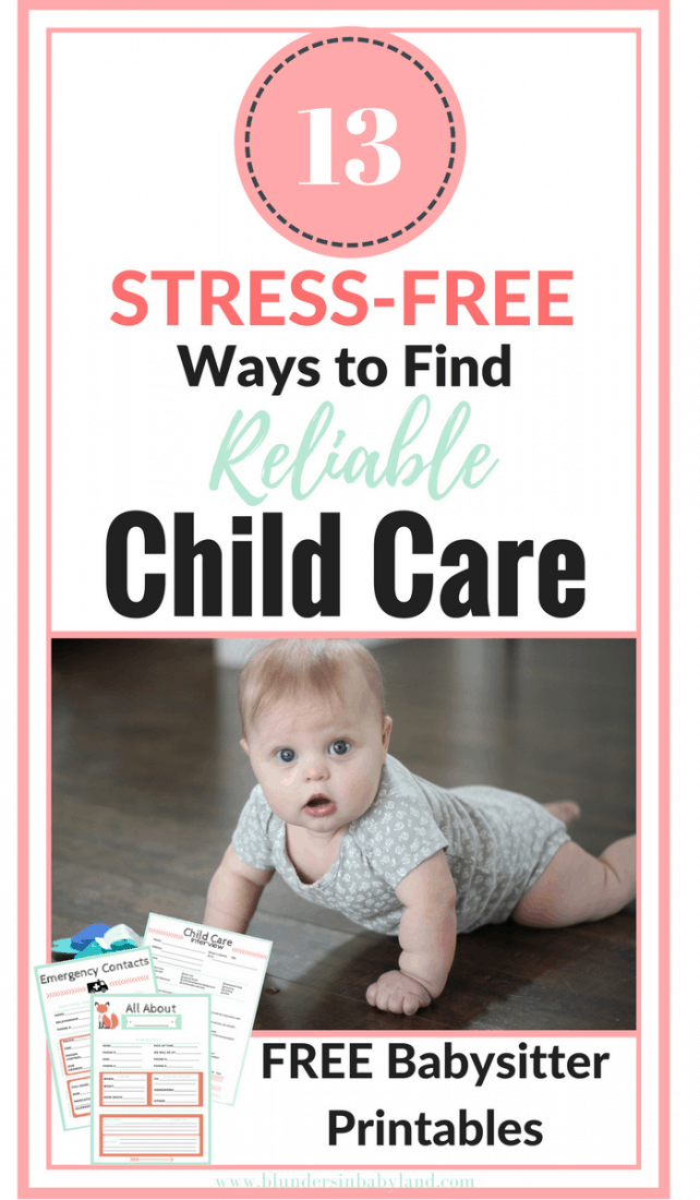 13 Stress-Free Ways to Find Reliable Child Care