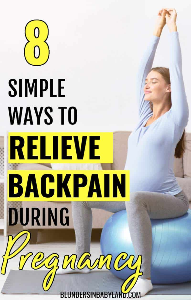 Relieve Back Pain During Pregnancy - Pregnancy Lower Back Pain Relief (1)