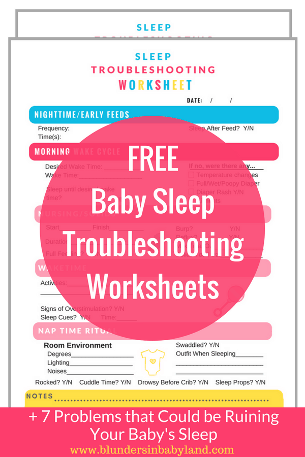 Free Baby Sleep Troubleshooting Worksheets