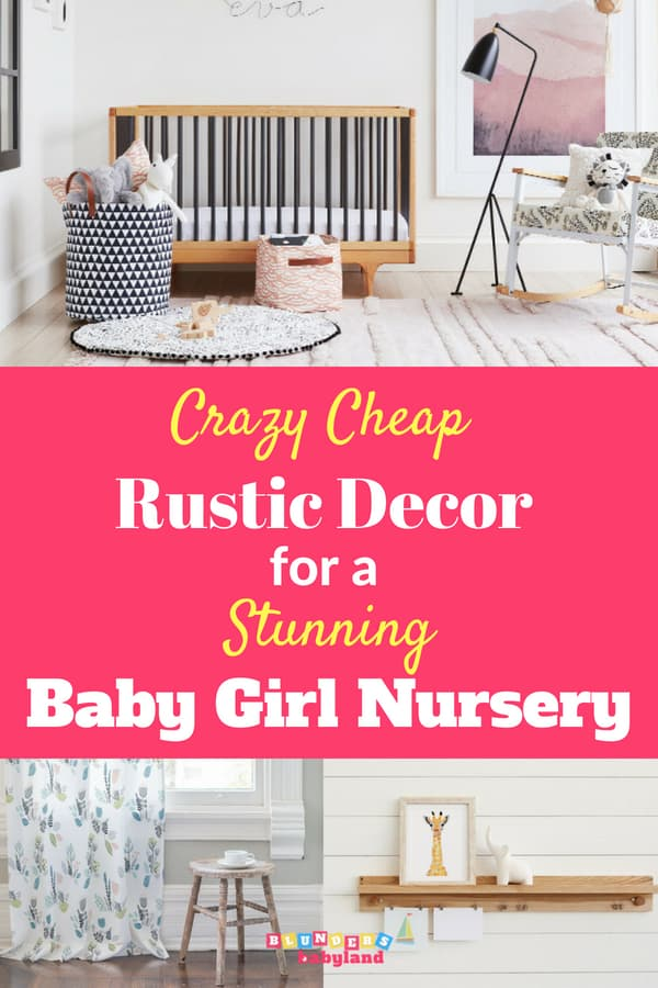 Crazy Cheap Rustic Decor for Stunning Baby Girl Nursery Ideas