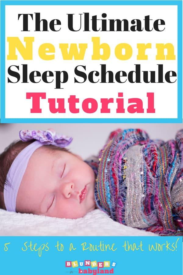 how to get a newborn on a sleep schedule