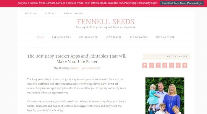 New Mom Blogs to Follow - Fennell Seeds