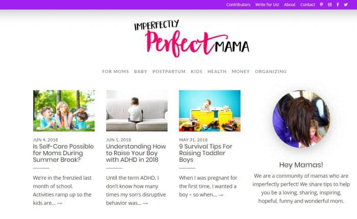 New Mom Blogs to Follow - Imperfectly Perfect Mama