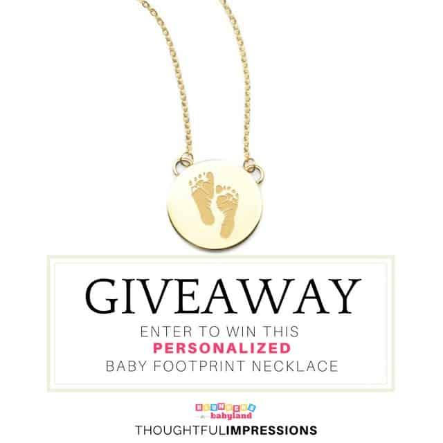 Baby Footprint Necklace Giveaway - Thoughtful Impressions Instagram