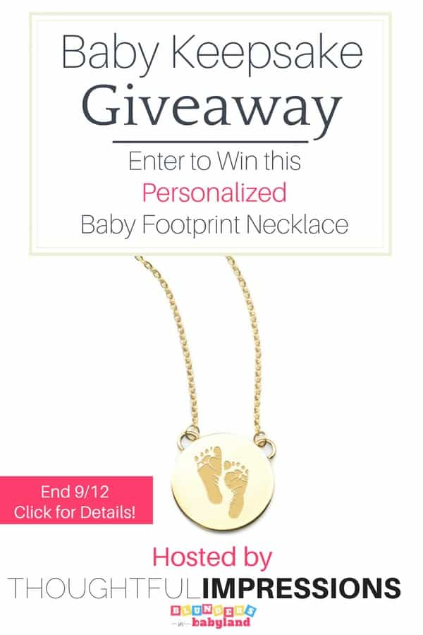 Baby Keepsake Giveaway - Thoughtful Impressions