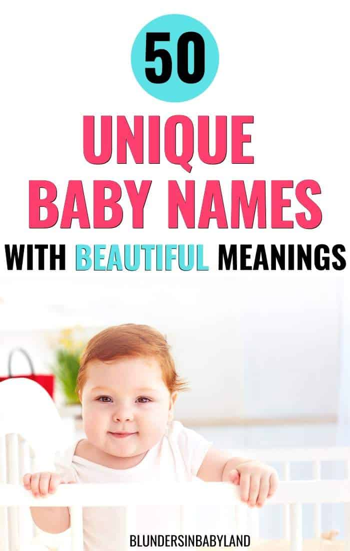 50 Unique Baby Names with Beautiful Meanings - Boys and Girls