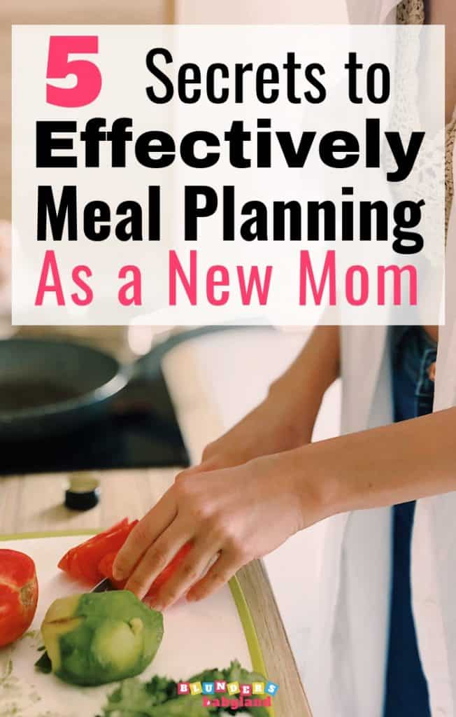 Meal Planning as a New Mom