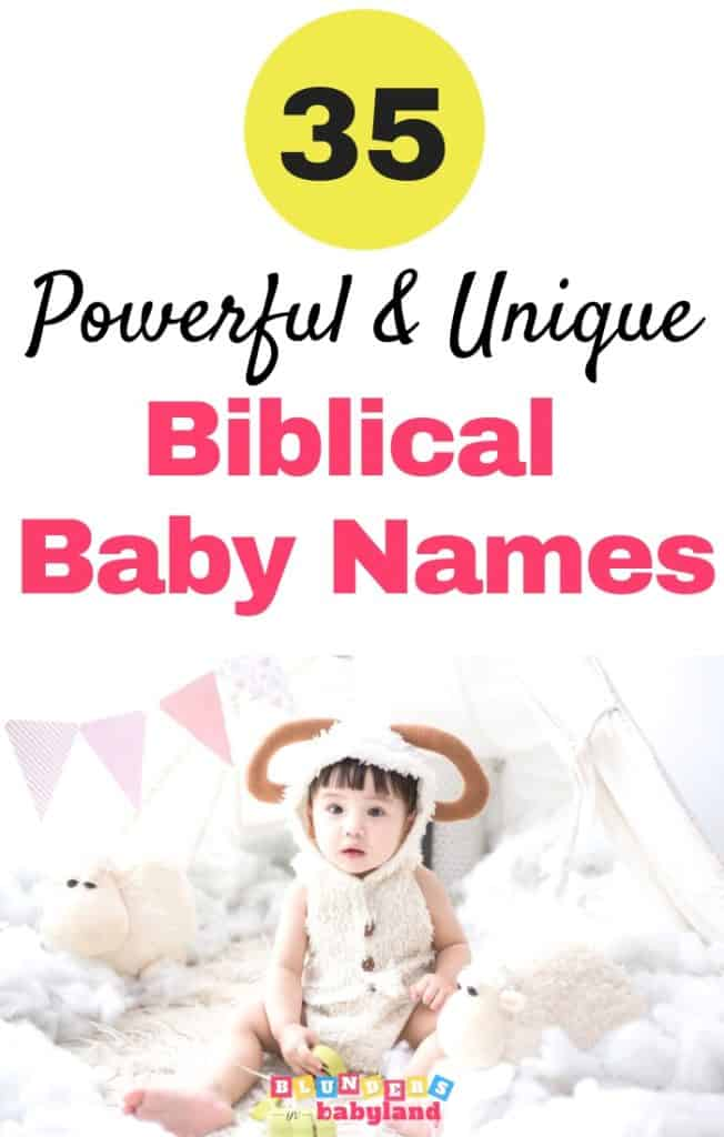 35 Unique Biblical Baby Names