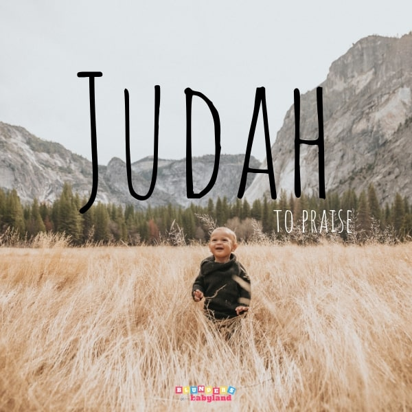 Judah - 35 Unique Biblical Baby Names - Baby Names from the Bible