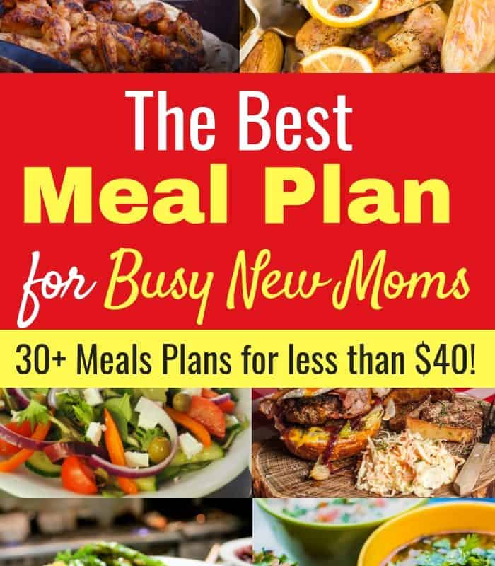 The Best Meal Plan for Busy New Moms