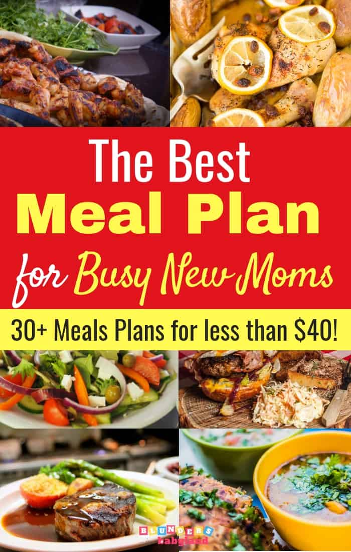 The Best Meal Plan for New Moms – The Healthy Meal Planning Bundle 2019