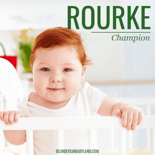 40 Irish Boy Names - Rourke (1)