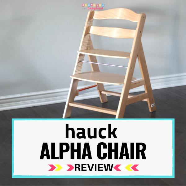Hauck Alpha Chair Review - Adjustable Wooden High Chair