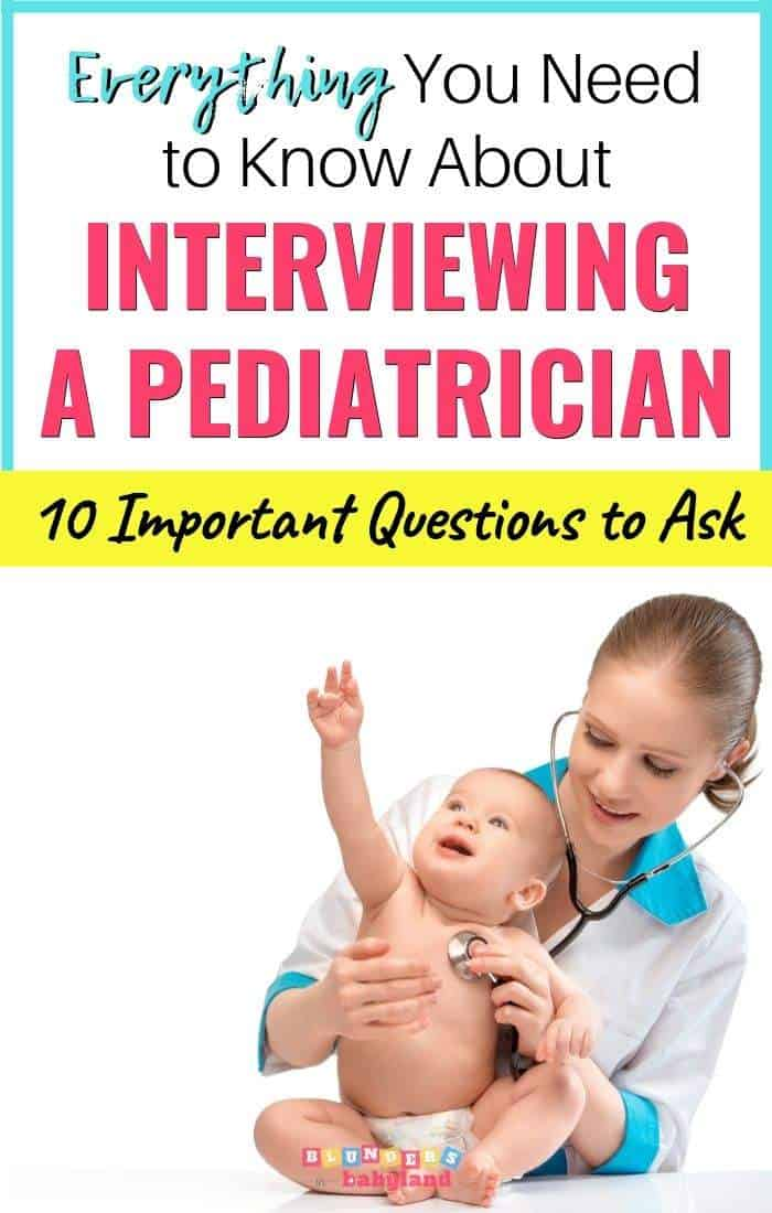 Interviewing a pediatrician - interview questions for pediatrician