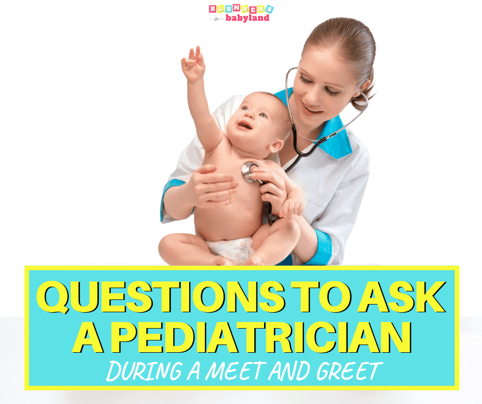 Questions to Ask a Pediatrician at a Meet and Greet