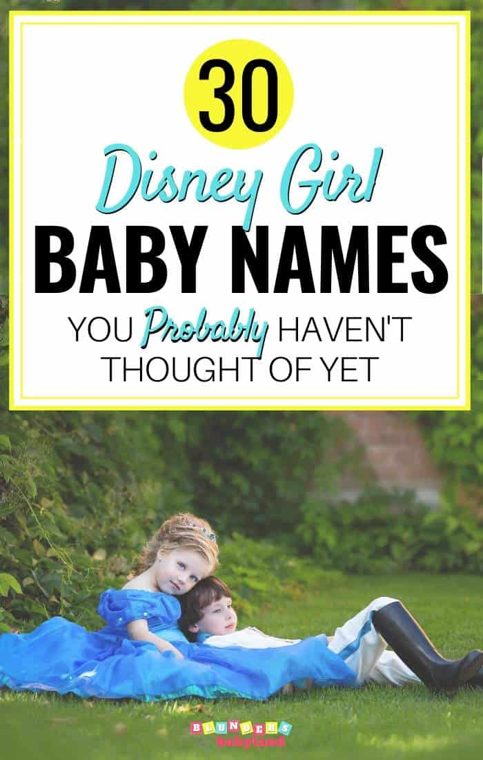 30 Disney Girl Baby Names you probably havent thought of yet