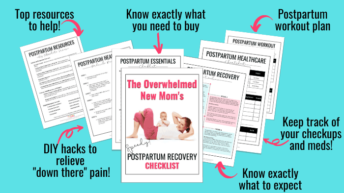 The Overwhelmed New Mom's Postpartum Recovery Checklist Mailer Lite (1)