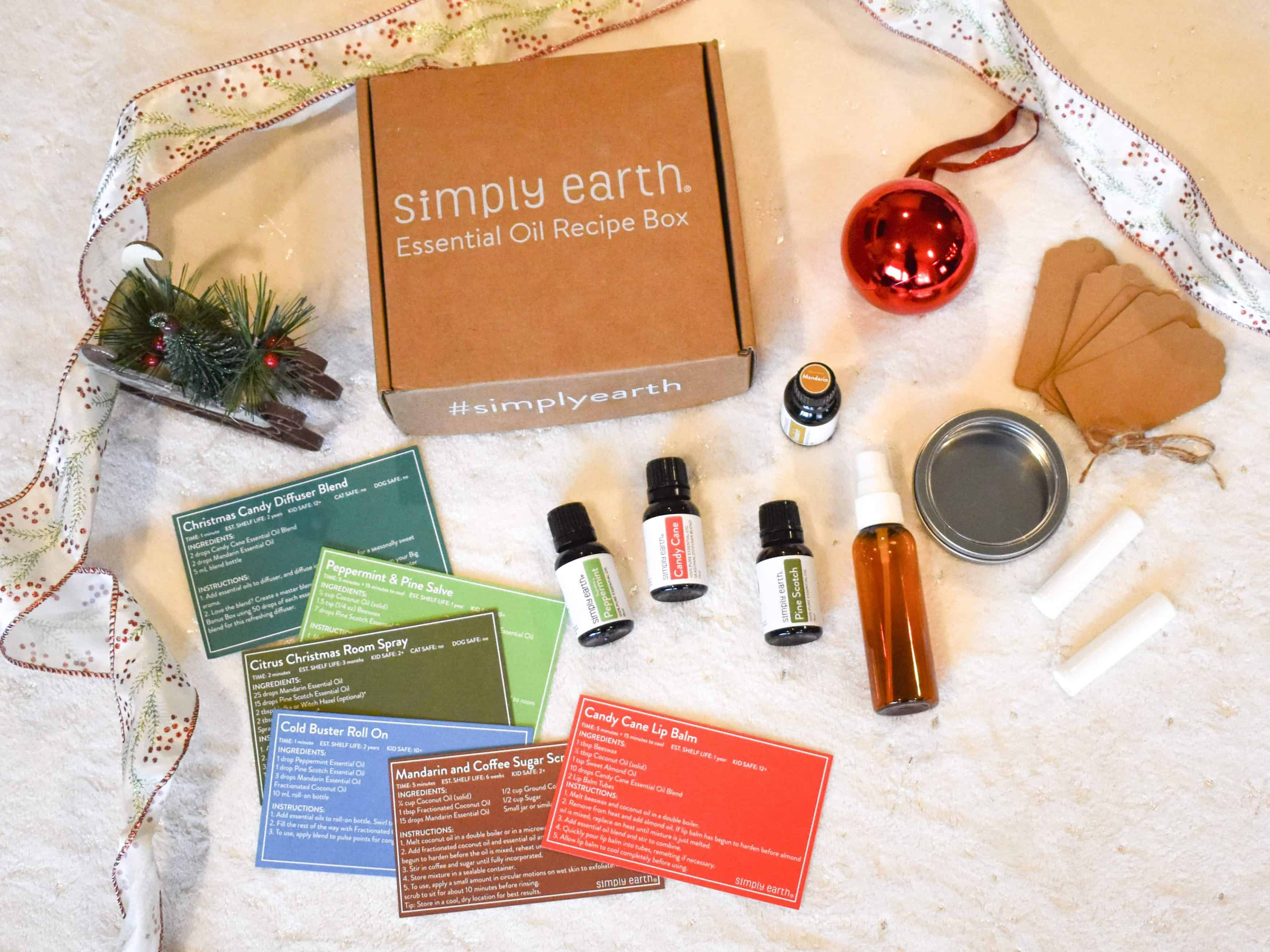 Simply Earth December Recipe Box - Contents