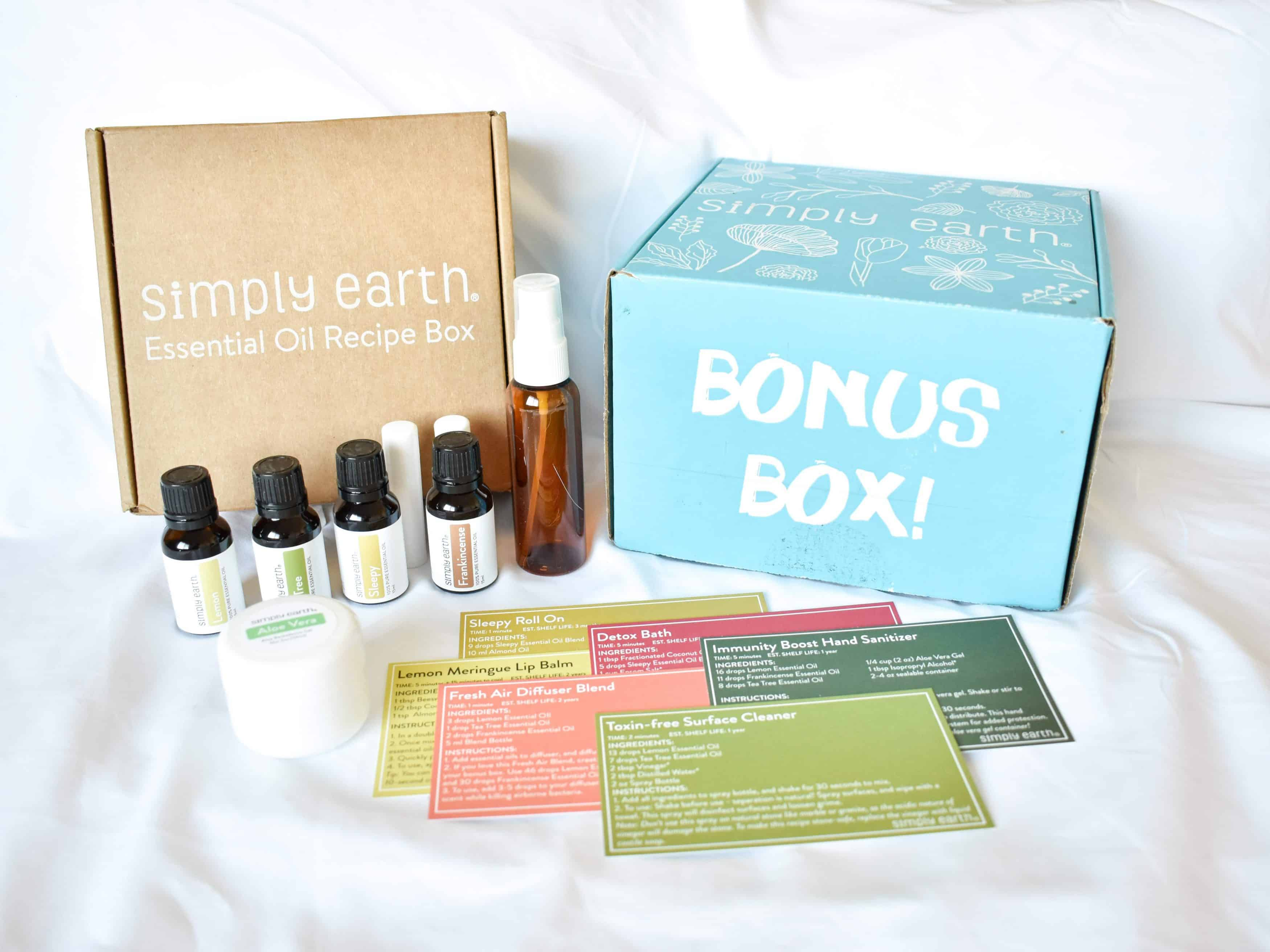 Simply Earth Starter Box and Big Bonus Box
