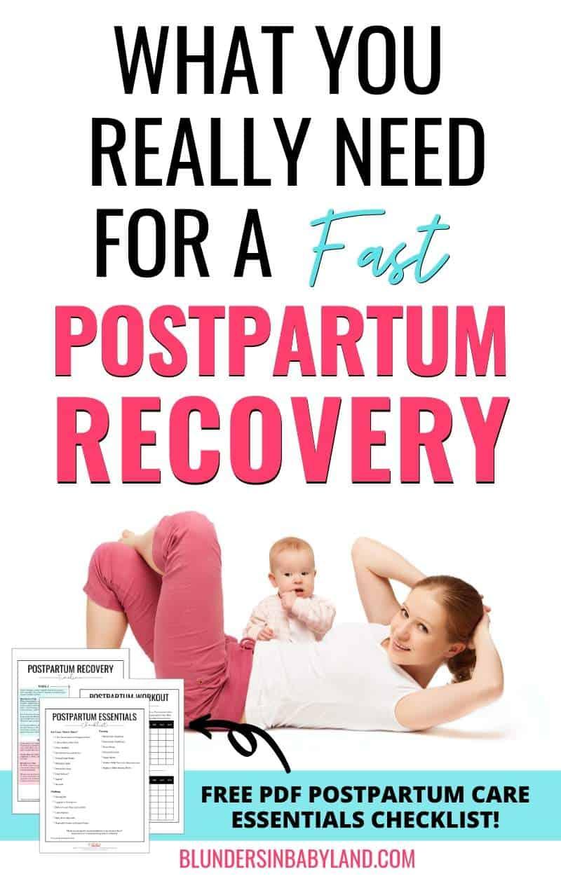 Fast Postpartum Recovery - Postpartum Care Checklist - Postpartum Essentials