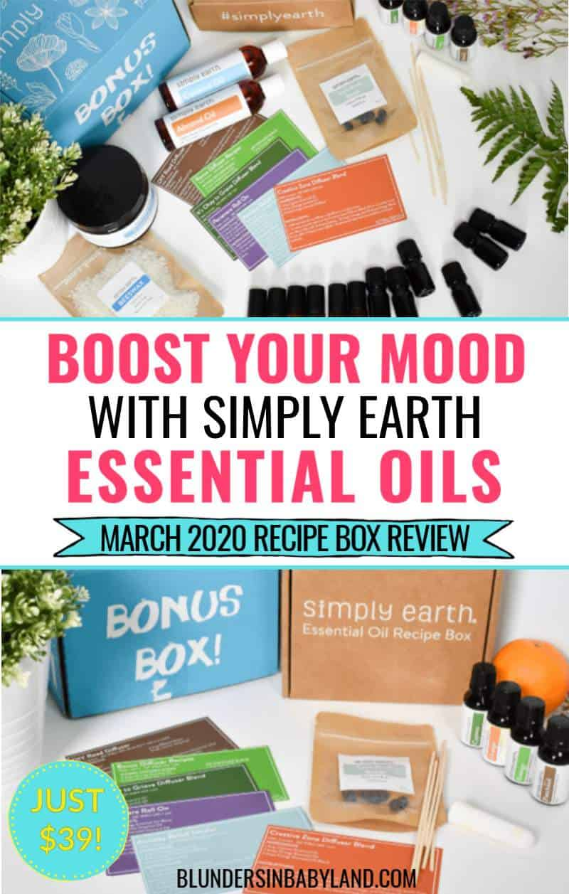 Improve Your Mood with Simple Earth Essential Oils - Simply Earth March 2020 Recipe Box Review (1)