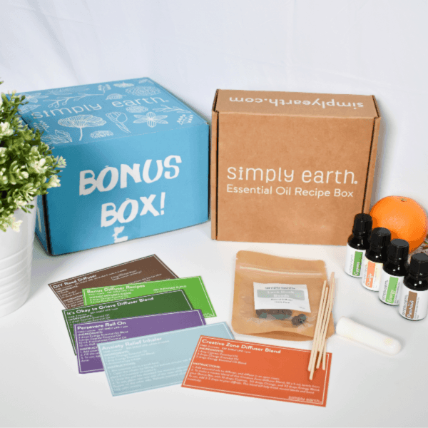Simply Earth March Box Review - March 2020 Recipe Box and Bonus Box