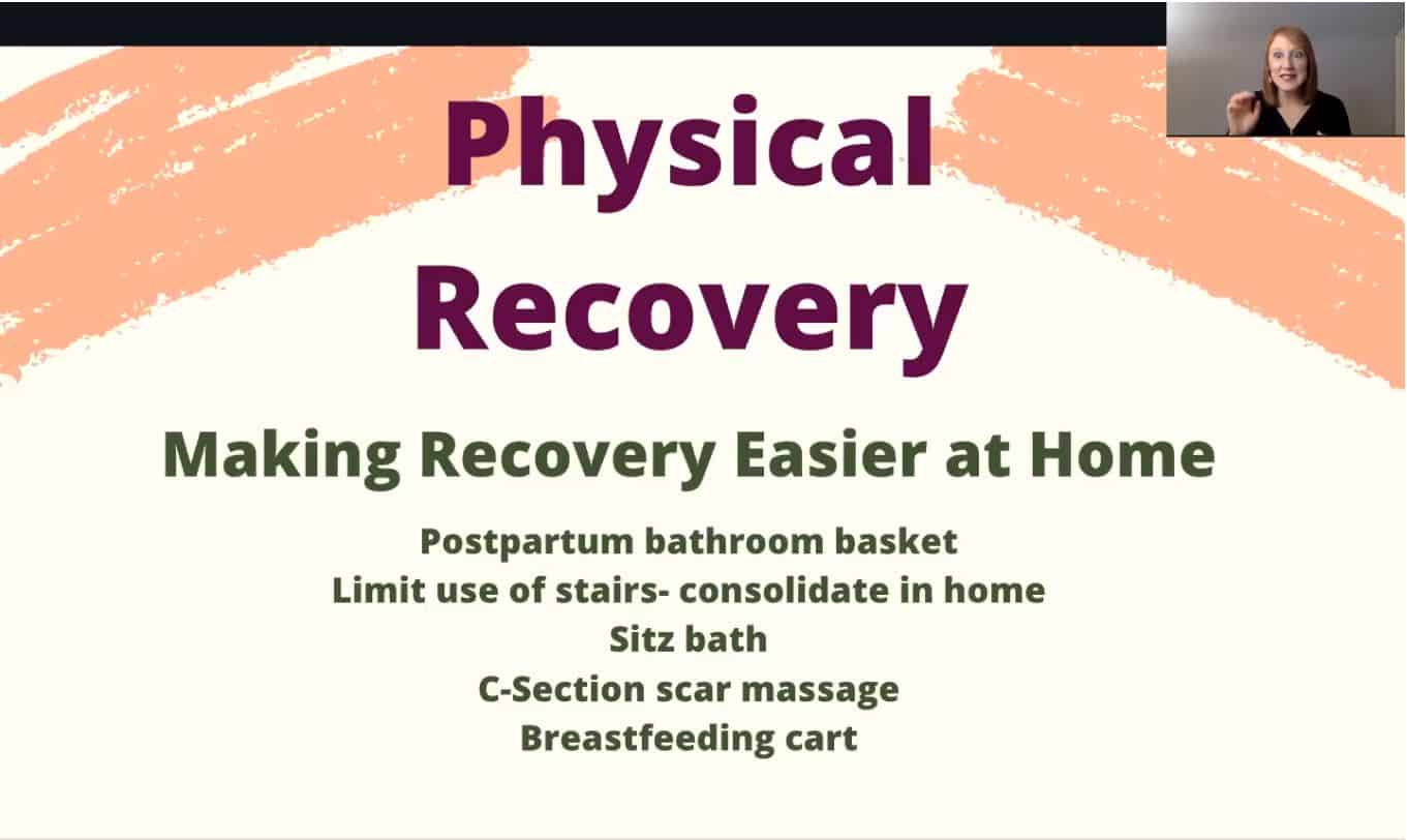 Making Your Postpartum Plan - Physical Recovery