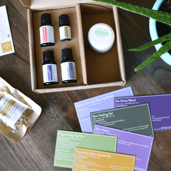 Simply Earth June 2020 Recipe Box: Using Essential Oils for Healing