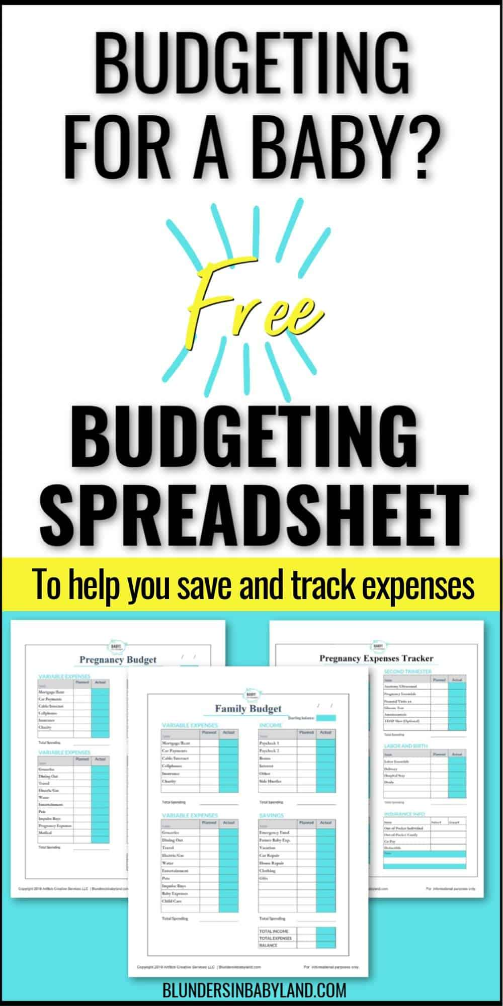 Baby Budgeting Spreadsheets - Baby Budget Worksheet Printables