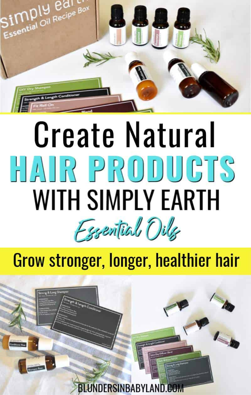 Essential Oil Hair Products - Simply Earth July Recipe Box (1)