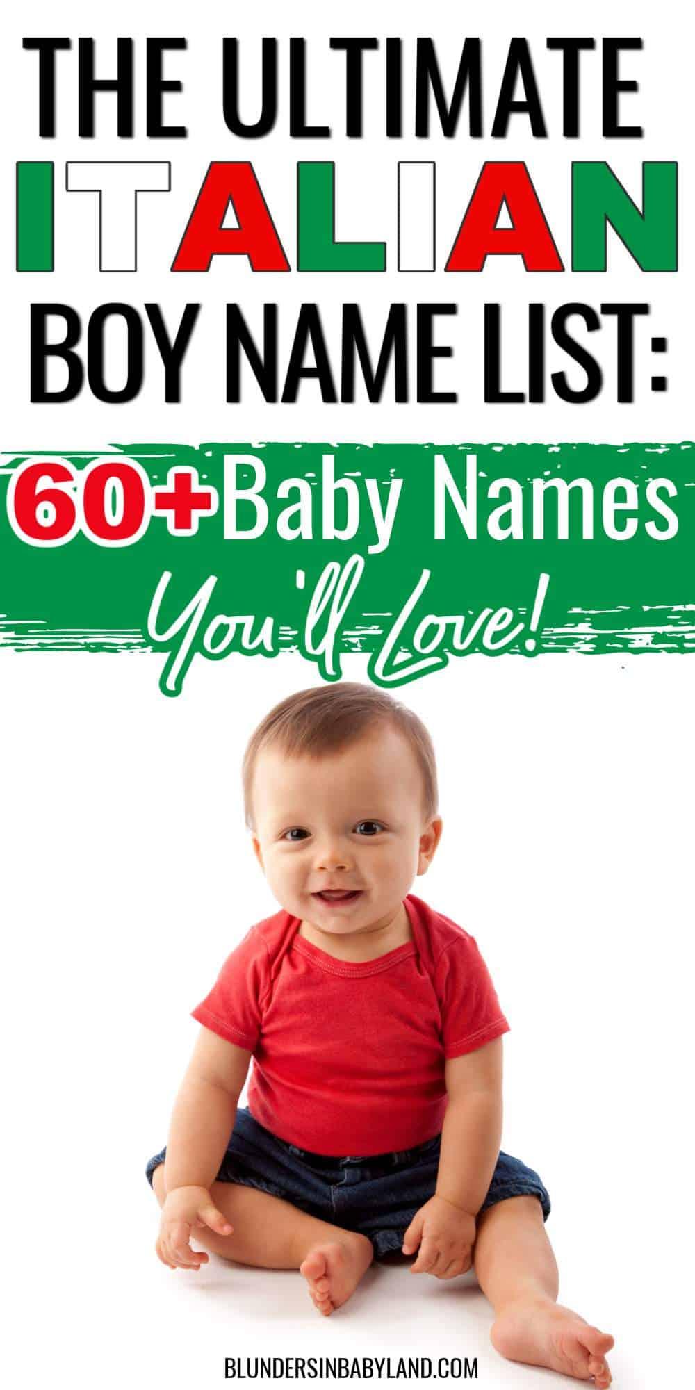 Italian Boy Name List - Italian Baby Names - Baby Names from Italy - Italian Names for Boys