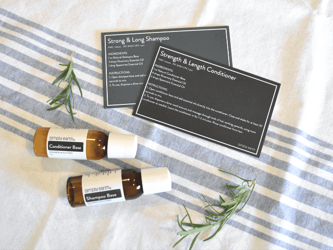 Simply Earth - July 2020 Recipe Box - Essential Oil Shampoo