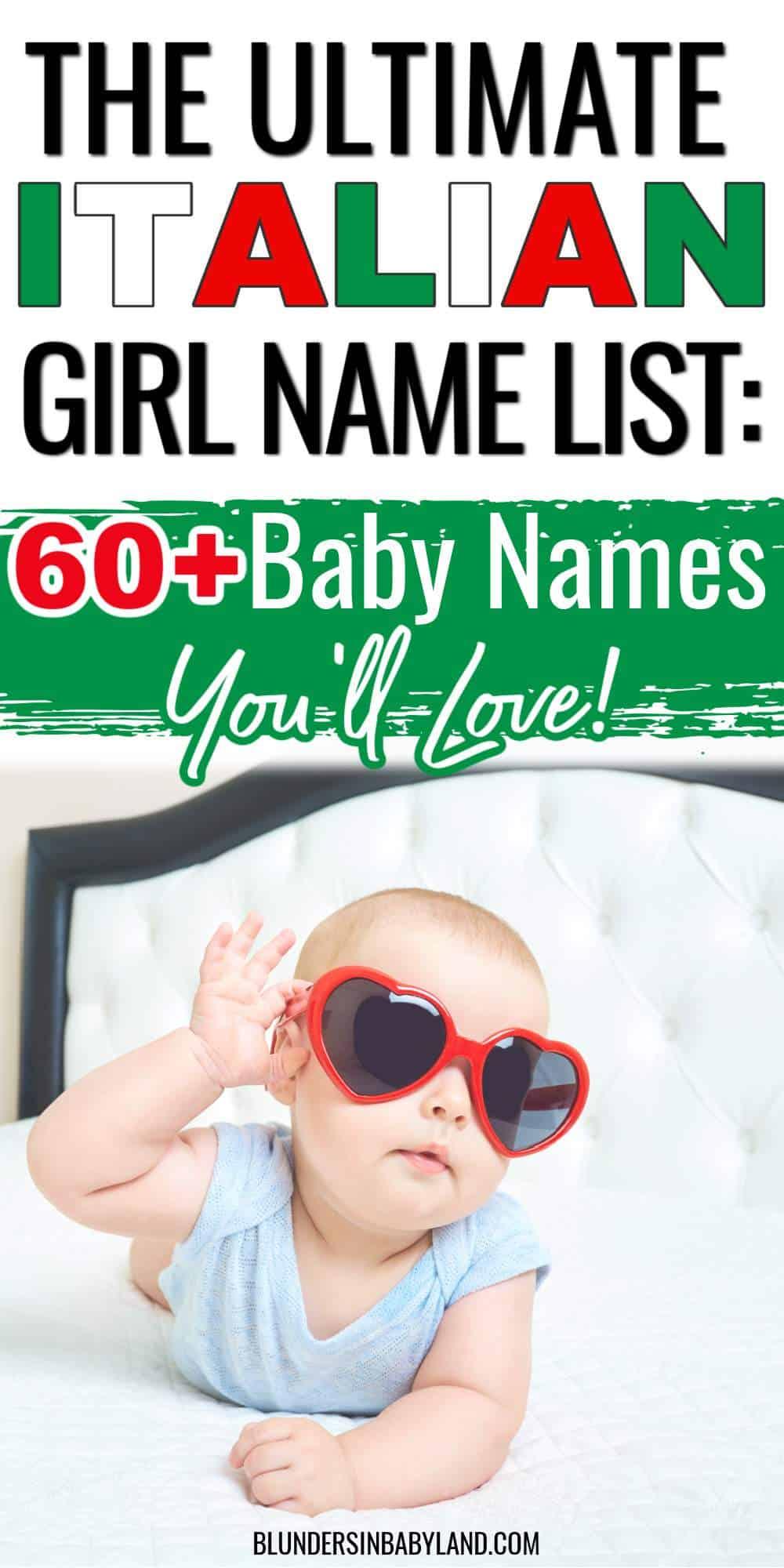 Italian Girl Name List - Italian Baby Names - Baby Names from Italy - Italian Names for Girls