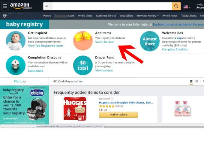 How to Create a Baby Registry on Amazon -add items (1)