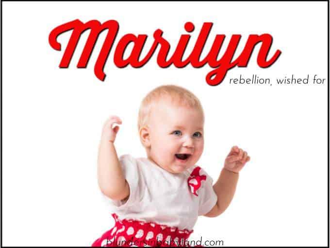 Retro Baby Names - Marilyn