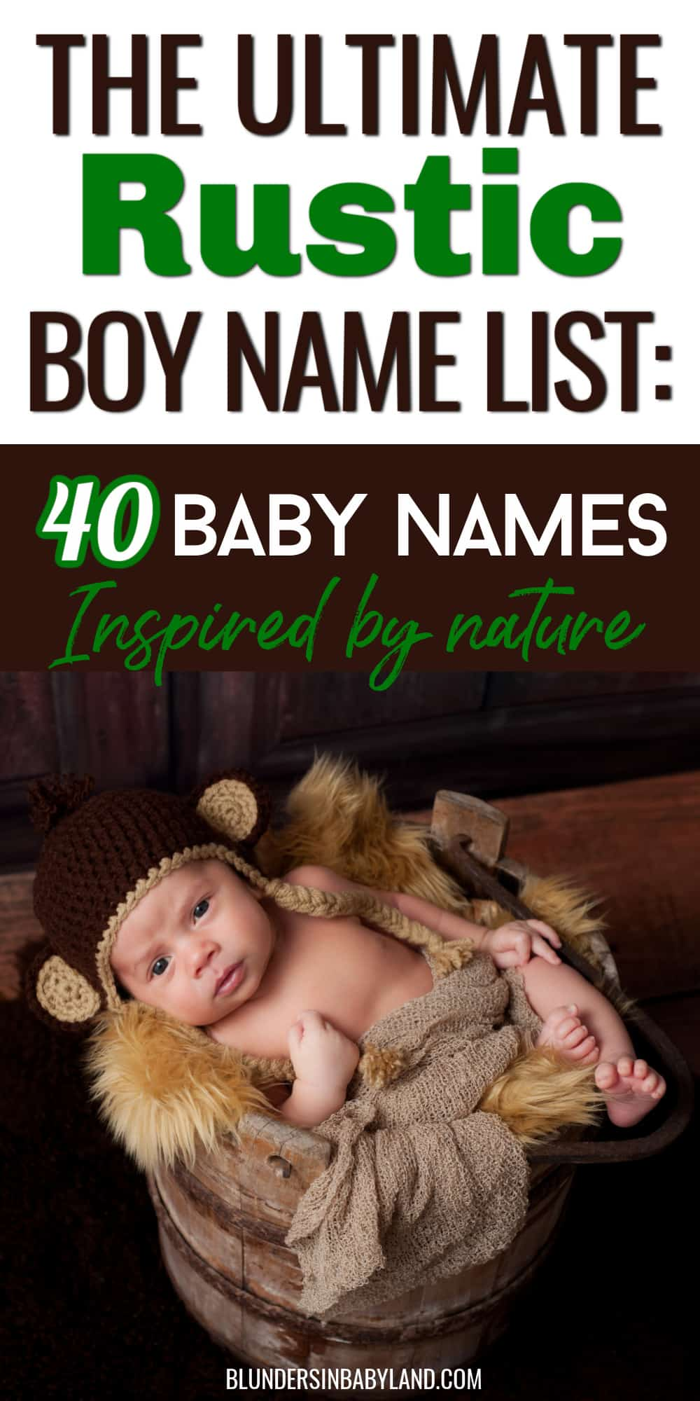 Rustic Boy Names Inspired by Nature - Rustic Baby Names