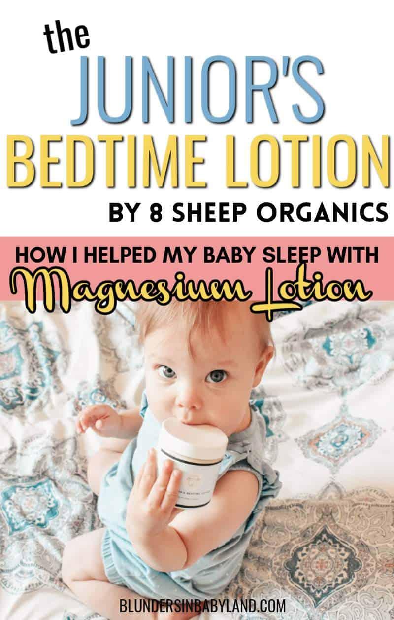 Magnesium Lotion Review - 8 Sheep Organics - Junior Bedtime Lotion Reviews