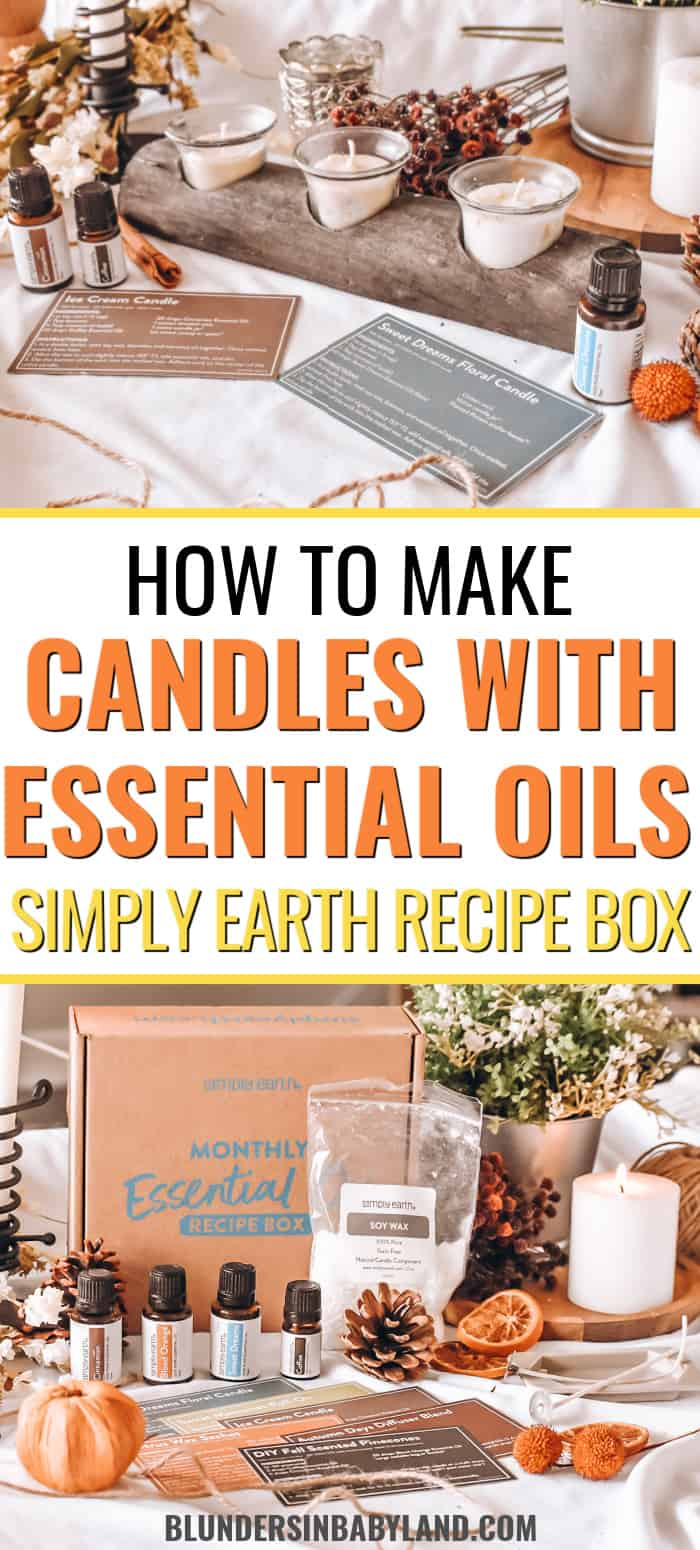 Simply Earth Recipe Box - September 2021 Candle Making
