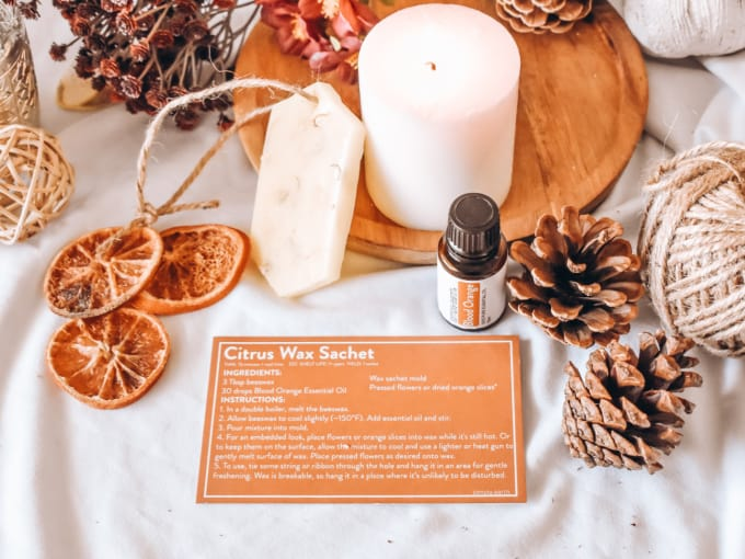 Simply Earth September Recipe Box - Citrus Wax Satchet