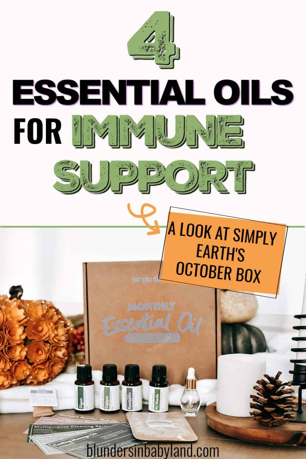 Simply Earth OCTOBER 2021 Recipe Box - Essential Oils for IMMUNE SUPPORT