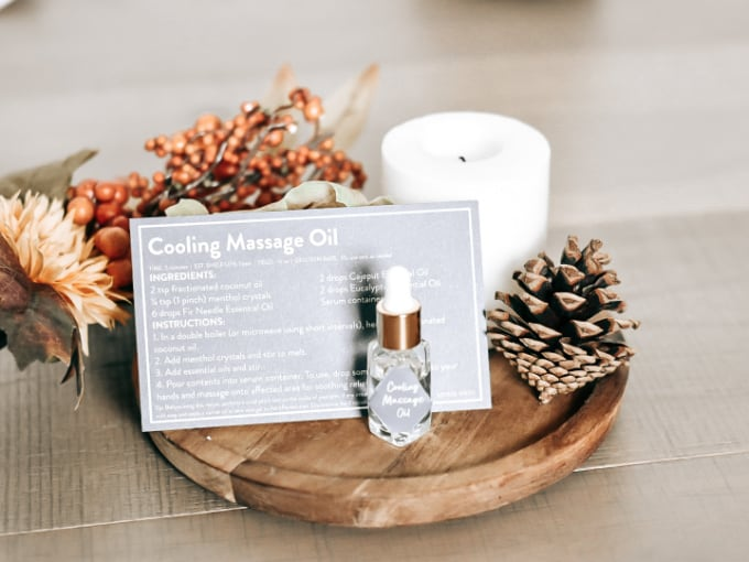 Simply Earth October 2021 Box Review - Cooling Massage Oil